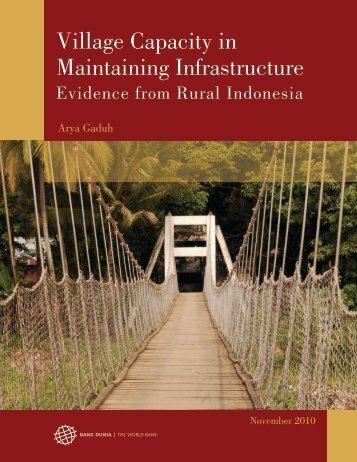 Village Capacity in Maintaining Infrastructure - psflibrary.org