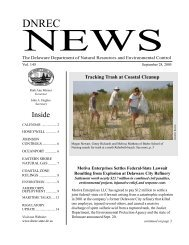 News - Delaware Department of Natural Resources and ...
