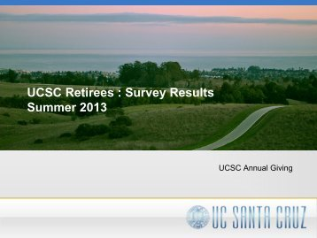 Results - UCSC Retirees Association