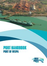 PORT HANDBOOK - North Queensland Bulk Ports Corporation