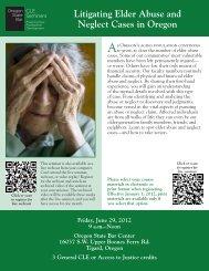 Litigating Elder Abuse and Neglect Cases in Oregon - Oregon State ...