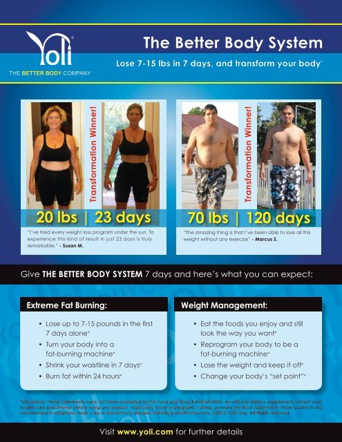 what is yoli weight loss