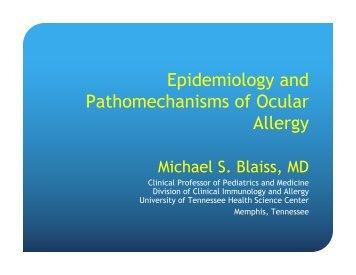 Epidemiology and pathomechanisms of ocular allergy