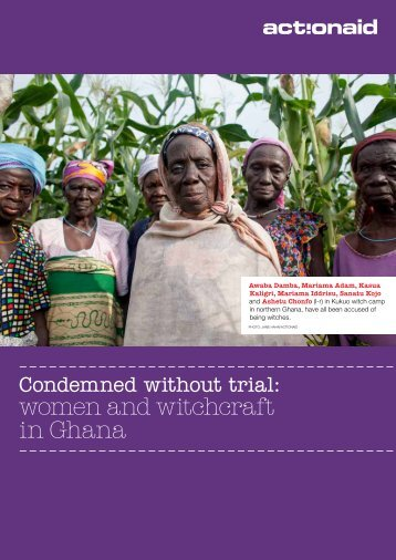 women and witchcraft in Ghana - ActionAid