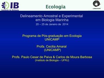 Amostragem I - Instituto de Biologia da UFRJ