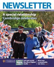 A special relationship Cambridge celebrates - the University Offices ...