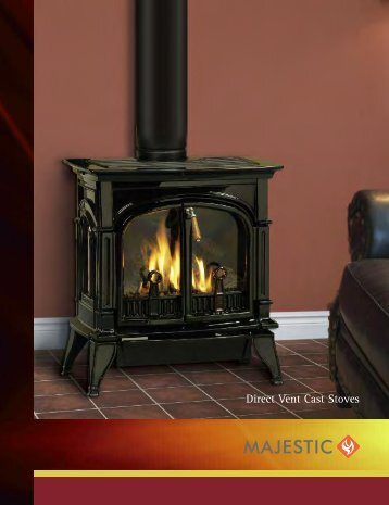 Direct Vent Cast Stoves - Unvented Gas Log Heater or Vented ...