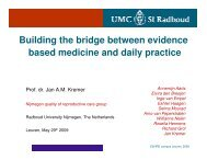 Building the bridge between daily practice and evidence ... - eshre