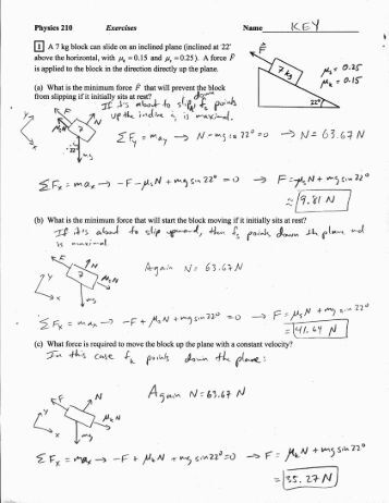 Inclined Plane, Wedge and Screw Worksheets
