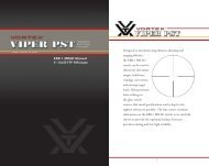 Designed to maximize long distance shooting and ... - Vortex Optics