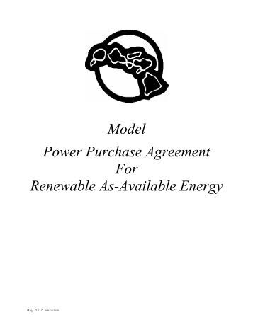 Power Purchase Agreement (Ppa) Produced For Pakistan - Ppp In