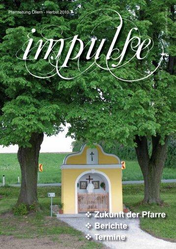 impulse - Herbst/Winter 2010.pdf - Kirche in Österreich