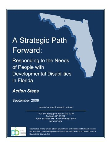 A Strategic Path Forward: - Florida Developmental Disabilities Council
