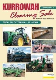 Kurrowah Clearing Sale
