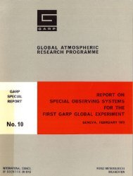 . GLOBAL ATMOSPfiERIC RESEARCH ... - E-Library - WMO