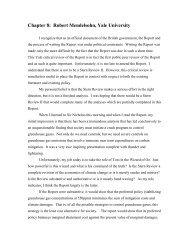 Chapter 8: Robert Mendelsohn, Yale University - Yale Center for the ...