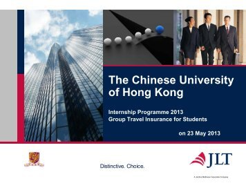 Information of Insurance Coverage - The Chinese University of Hong ...