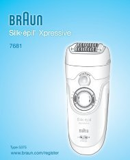 Xpressive - Braun Consumer Service spare parts use instructions ...