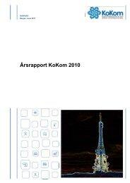Årsrapport KoKom 2010