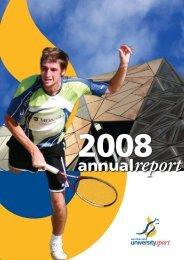 2008 Annual Report - Australian University Sport