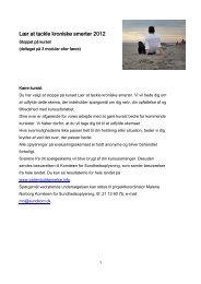 Lær at tackle kroniske smerter 2012 - Patientuddannelse