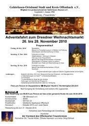 Adventsfahrt zum Dresdner Weihnachtsmarkt 26. bis 28. November ...