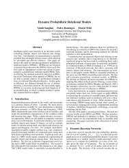 Dynamic Probabilistic Relational Models - CiteSeerX