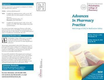Advances In Pharmacy Practice - University of the Sciences in ...