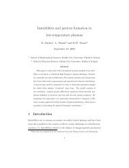 Instabilities and pattern formation in low-temperature plasmas