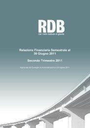 Relazione Finanziaria Semestrale al 30 Giugno 2011 ... - Rdb