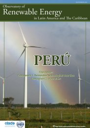 PERÚ - Observatory for Renewable Energy in Latin America and