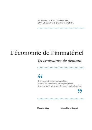 L'économie de l'immatériel - La croissance de demain - IESF