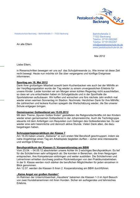 Word Vorlagen Brief Template Musterbrief Pestalozzischule