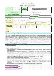 Wydział Zarządzania AGH ECTS – Arkusz przedmiotu