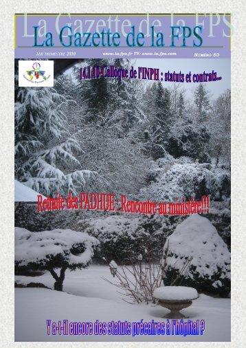 La Gazette de la FPS / 1er trimestre 2010 / N° 50 Page 1