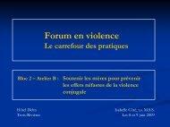 Soutenir les mères victimes de violence conjugale: Une action en ...