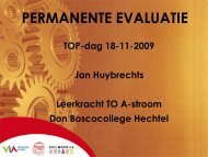 PERMANENTE EVALUATIE - Technopolis