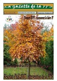 La Gazette de la FPS / 3ème trimestre 2007 / N° 40 Page 1