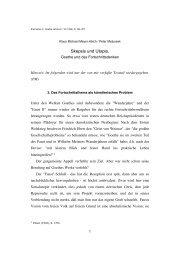 Skepsis und Utopie  Goethe und das  ... - Peter Matusseks Website