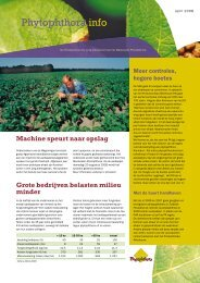 Phytophthora info - Productschap Akkerbouw