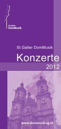 St.Galler DomMusik Jahresprogramm - Gallusjubiläum - St. Gallen