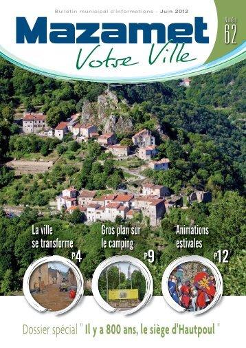 Téléchargez le bulletin municipal de Juin 2012. - Mazamet