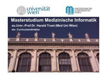 Masterinfo Medizinische Informatik.pdf - Universität Wien