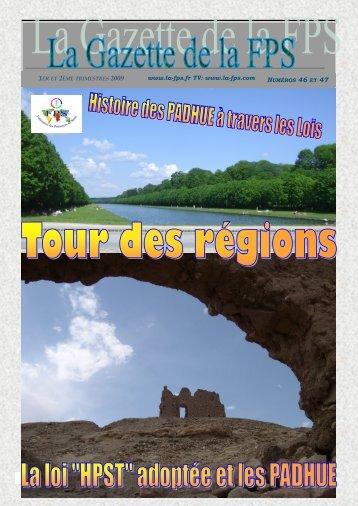 La Gazette de la FPS / 1er et 2ème trimestres 2009 / N° 46 et 47 ...