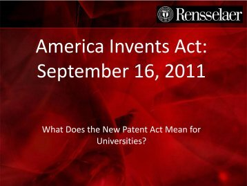 The Patent Act 2011