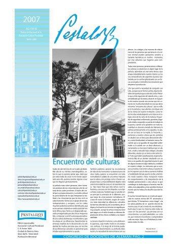 Edición junio 2007 (formato PDF; 2 MB) - Colegio Pestalozzi