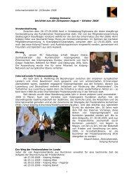 Nachrichten August - Oktober 2008 - Kolping International
