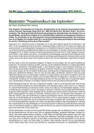 """Rezension """"Praxishandbuch der Exploration"""". - Deutscher ..."""