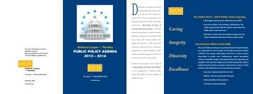 Public Policy Agenda 2013-2014 - National League for Nursing