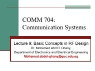 Basic Concepts in RF Design